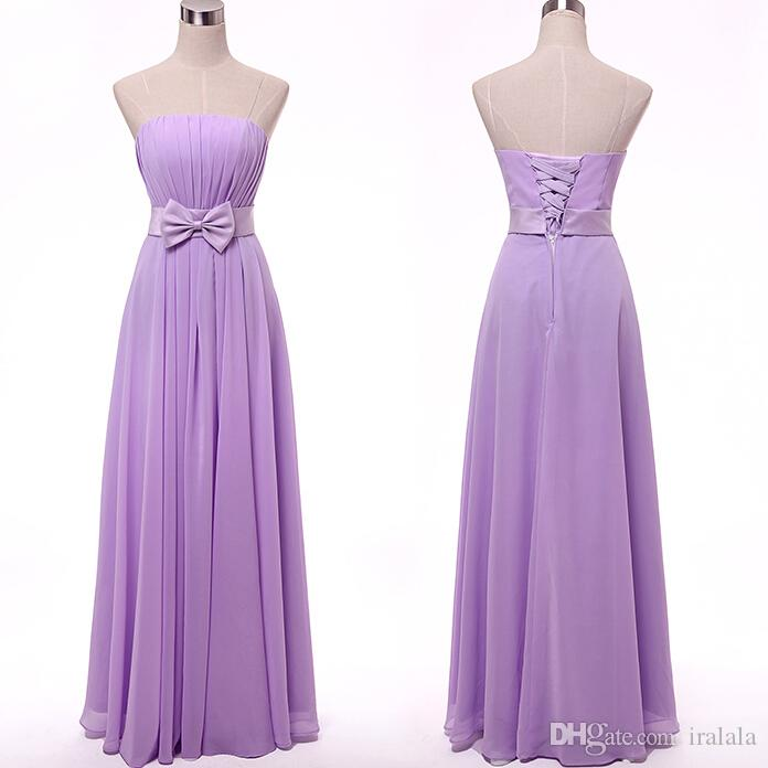Purple Formal Lavender Modest Girls Chiffon Bridesmaids Dress ...