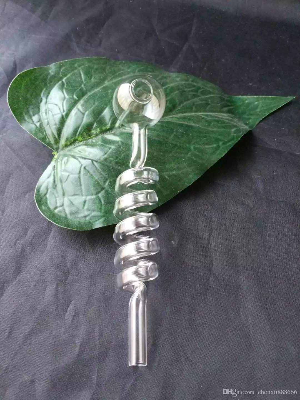 나선형 투명 냄비 봉 액세서리, 유리 물 파이프 담배 파이프 Percolator 유리 봉 오일 버너 워터 파이프 오일 조작 흡연 위트
