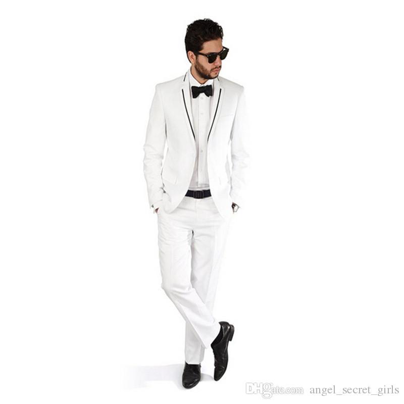 Custom man suits Slim Fit groom wedding suits Tuxedo Fashion handsome groom best man prom dress suitsjacket+pants