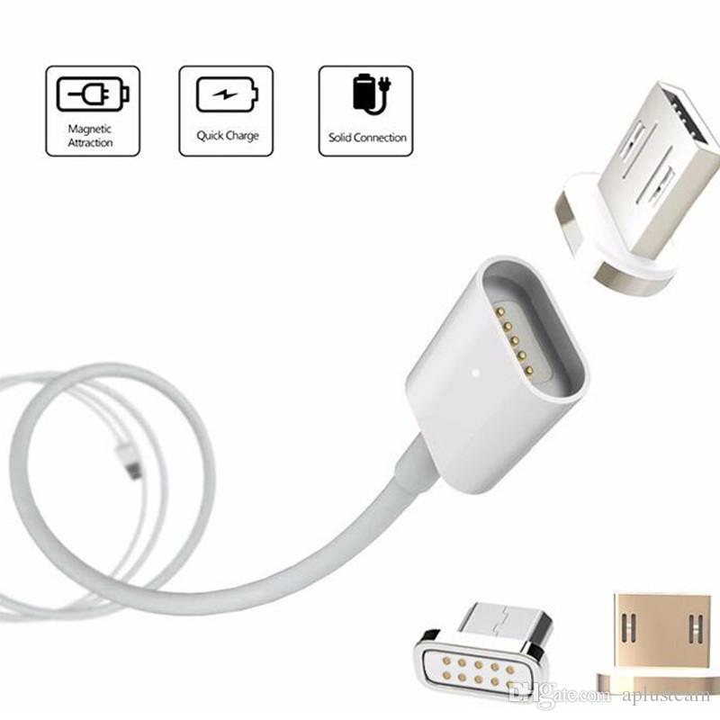 Universal Type C Magnetic 2 In 1 Charger Cables Micro Usb 1m 3ft ...