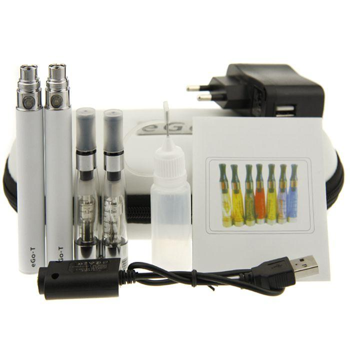 CE4+ plus eGo Starter Kit eGo Zipper case Double Kit E-Cigarette kit with CE4+ Atomizer eGo T Battery 650mah 900mah 1100mah