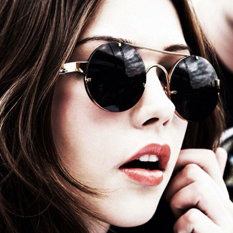 5603f20b2c8 Wholesale- Royal Girl Brand Designer Round Sunglasses Women Coating ...