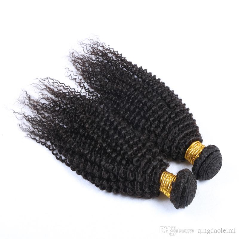 High Quality 100% Human Hair Extensions Remy Curly Natural Color Mixd Lengths grace Hair 200g with 4*4 Lace Closure Double Weft