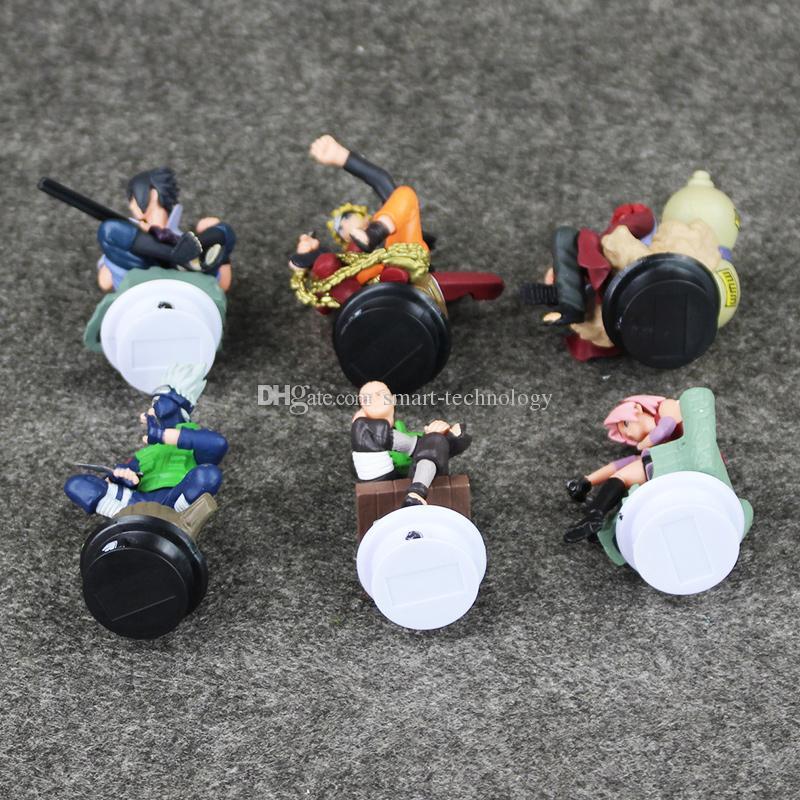 Naruto Uzumaki Naruto Figuras Uchiha Sasuke Kakashi Sakura Gaara PVC figura brinquedos Dolls 7 a 10 cm frete grátis