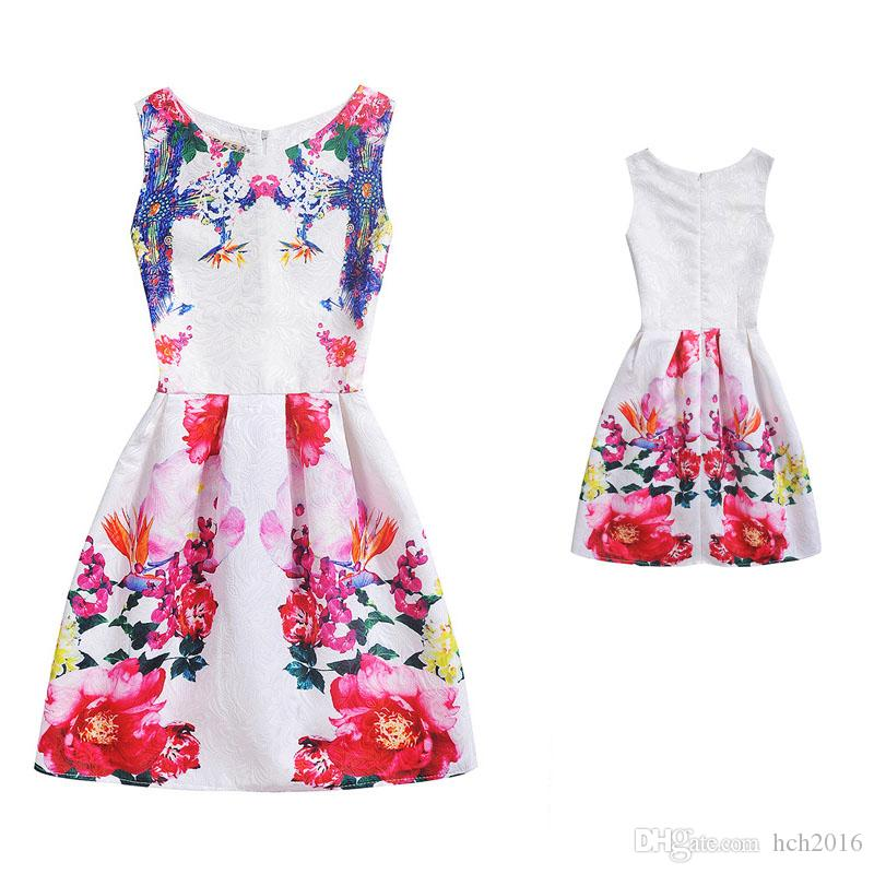 Baby Kids Children Clothing 2018 Family Matching Outfits Flowergirl Mother And Daughter Dresses Girls Dress Clothes 6026