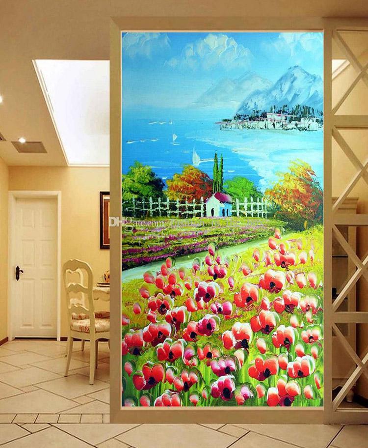 Pastoral Scenery Wall mural Oil painting Photo wallpaper Custom 3D wallpaper Bedroom Hallway Office Hotel Door Room Decor Interior design