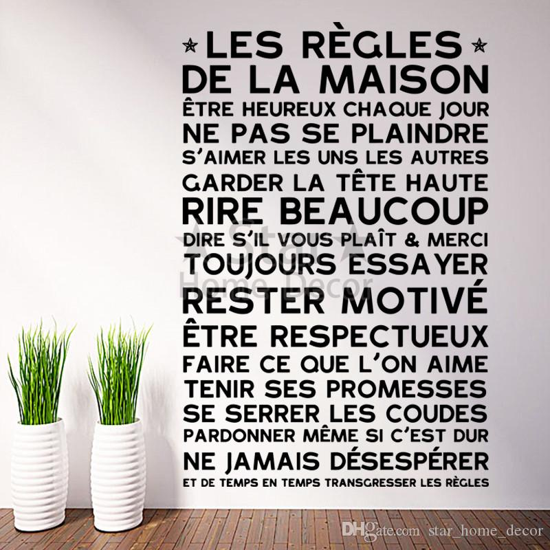 Art New Design Home Decoration Vinyl French Rules Wall Sticker