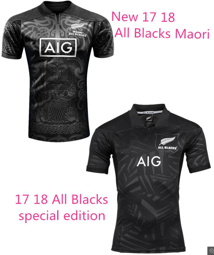 2017 2018 New Zealand All Blacks Maori Rugby Jerseys 17 18 Top Quality All  Blacks Territory Rugby Shirts Special Edition Size S Xxxl From ...