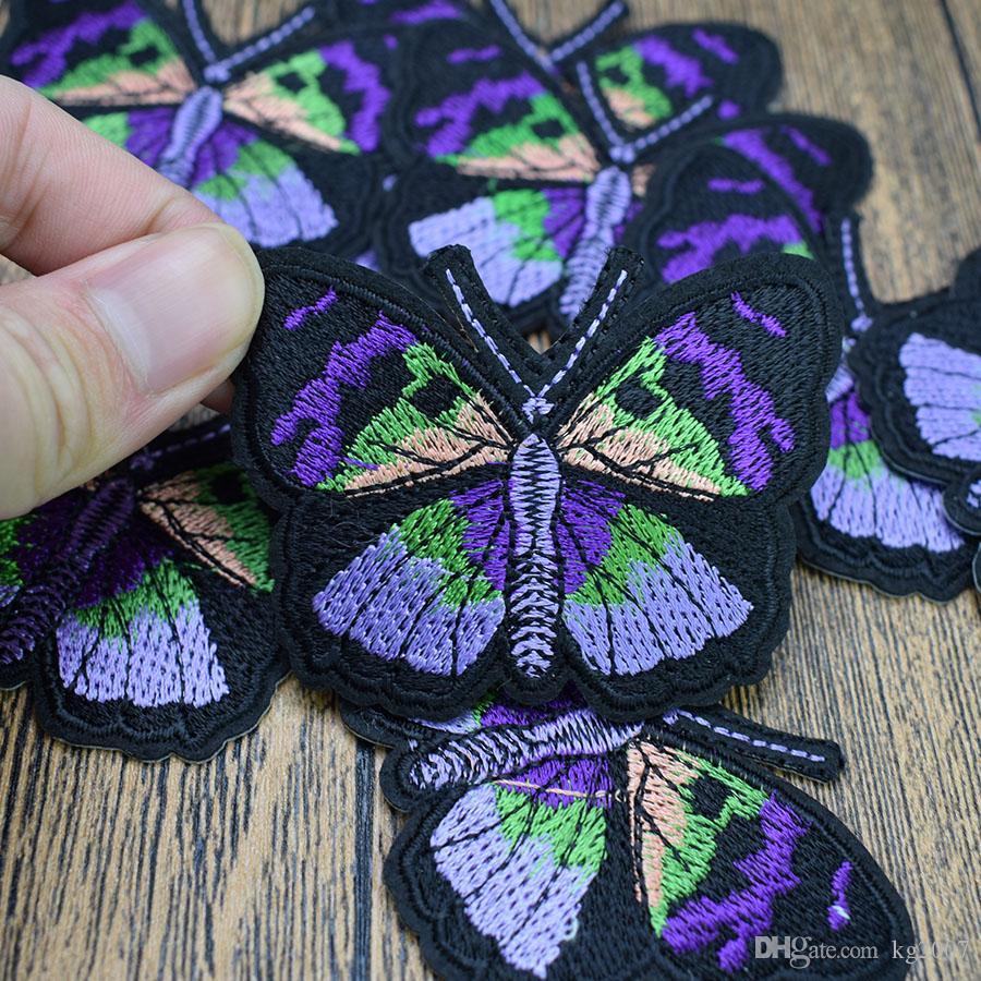 schönes Schmetterlings-Patches für Kleidung Taschen Eisen-on Transfer Applikationen Aufnäher für Jeans nähen auf Stickerei Flecken-DIY