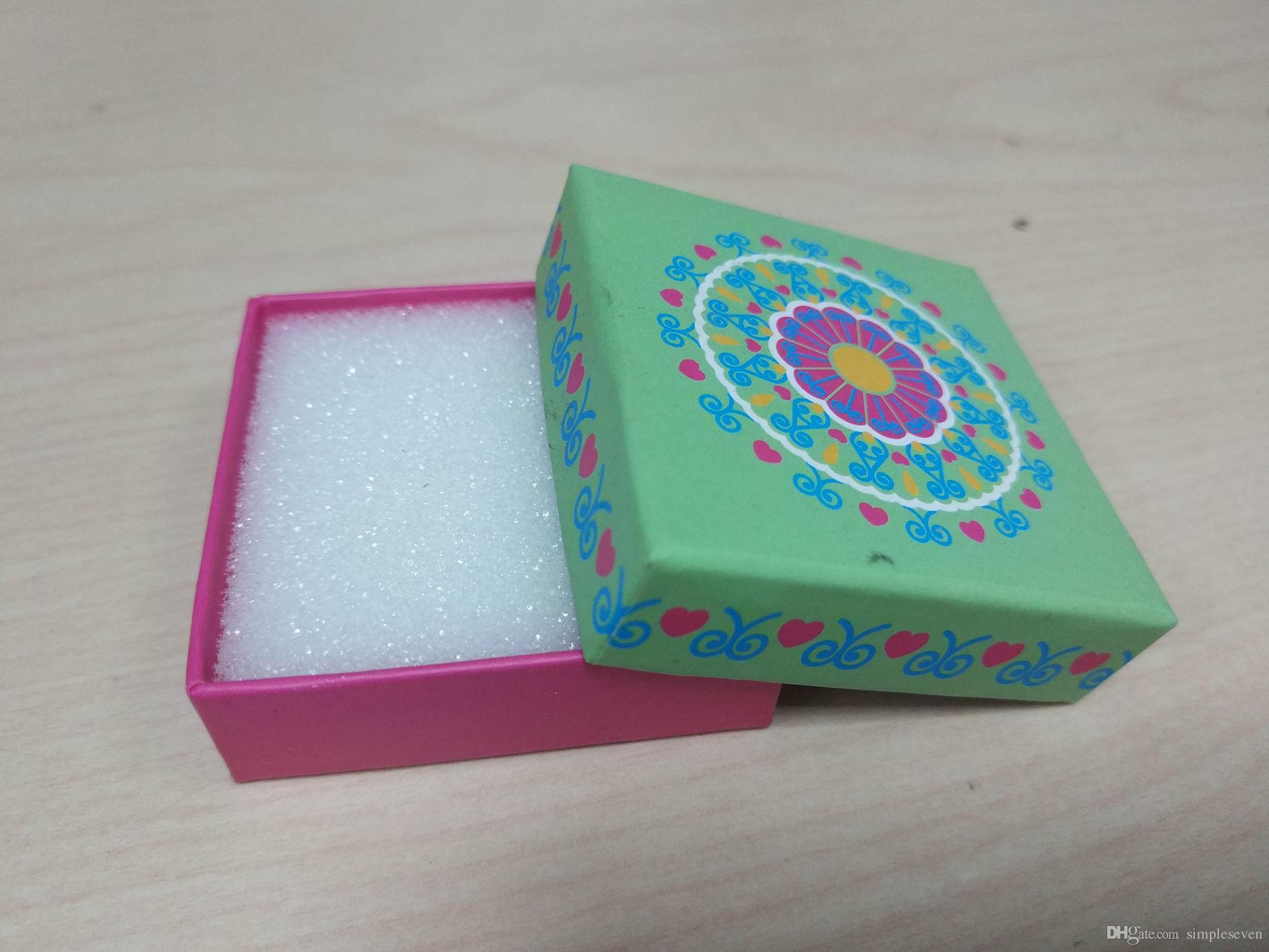 [심플 세븐] 클래식 그린 핑크 팔찌 상자 / 축제 Pedant 상자 / 패션 목걸이 패키지 / 공주 쥬얼리 케이스 / 사랑 귀걸이 상자