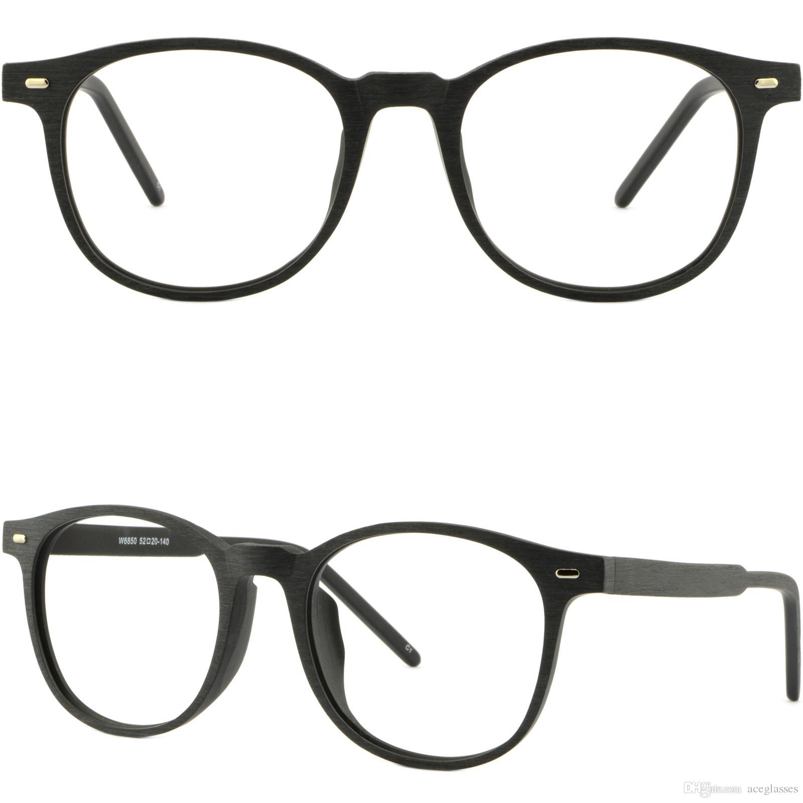 brillengestell fassung gestell brille wide square men womens frames wood acetate prescription glasses sunglasses black mens fashion eyeglass frames - Wide Eyeglass Frames
