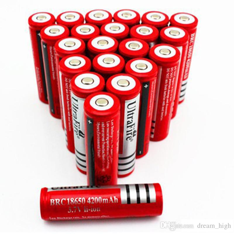 UltraFire 18650 4200 mAh 3.7 V Li-Ion Şarj Edilebilir Pil Yüksek Kapasiteli LED El Feneri Dijital Kamera Lityum Pil Şarj