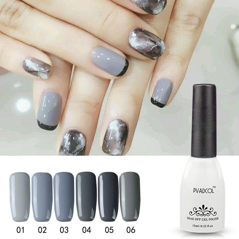 Pvadcol Nail Gel 2017 Newest Fashion Color Grey Series Gel Polish ...