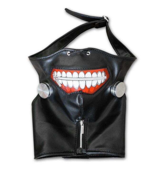 Tokyo Ghoul 2 Kaneki Ken Mask Adjustable Zipper Masks PU Leather Cool Mask Blinder Anime Cosplay Mask