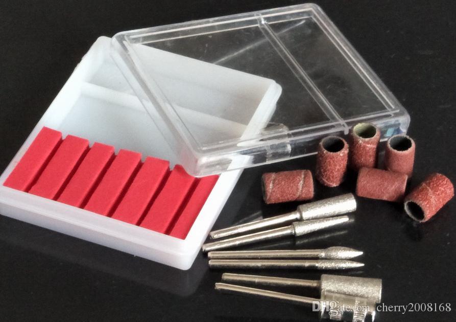 brocas y bandas de lijado para brocas de uñas Conjunto de reemplazo Nail Electric File Metal Bits