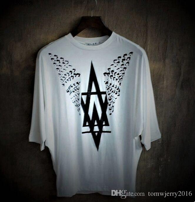 Nuovo arrivo High-end Plus size Uomo loose bat-like shirt Moda maschile stampa T-shirt Uomo No-Pilling Tops S M L XL 2XL 3XL