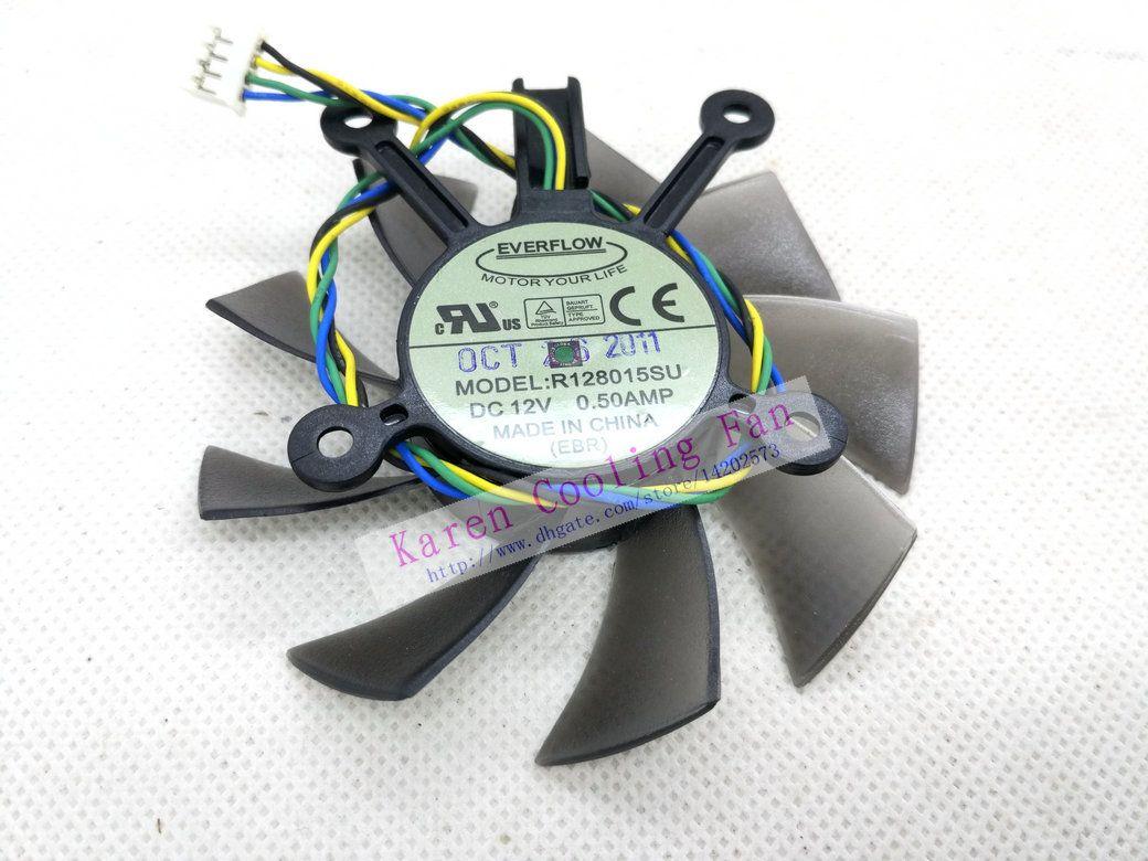 AVC DASB0815B2U EverFlow R128015SU 12V 0.50A Grafikkort Fläktdiameter 75mm Pitch 43mm