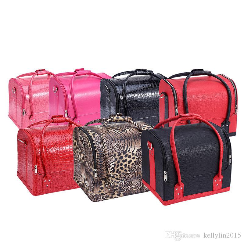 6e60fdd1fb07 Cosmetic Case Makeup Train Cases Professional PU Leather Women Pink Tote  Bag Beauty Make Up Organizer Multifunctional Bags Free Makeup Samples Makeup  ...