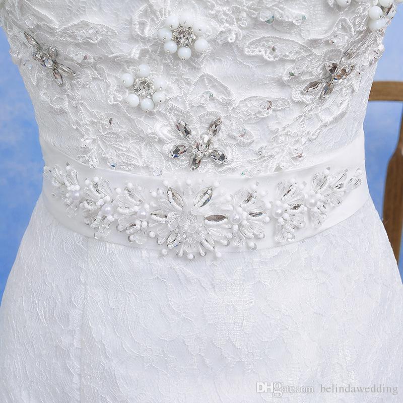Новое кружевное свадебное платье русалки Новое Холтер кружево из бисера Трибуна без рукавов Русалка труба белые свадебные платья дешево