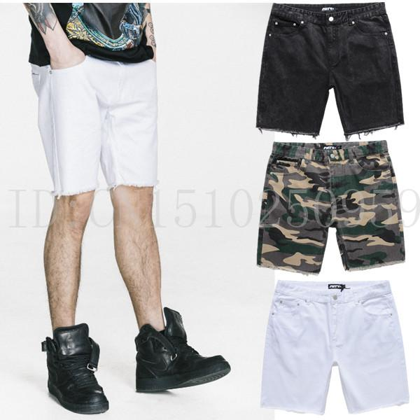 8f0db2e2 2019 Wholesale FNTY Men Shorts Jeans Camo Distressed White Black Swag Hip  Hop Washed Streetwear Demin Shorts Ripped Biker For Men Kanye West From  Yanmai, ...