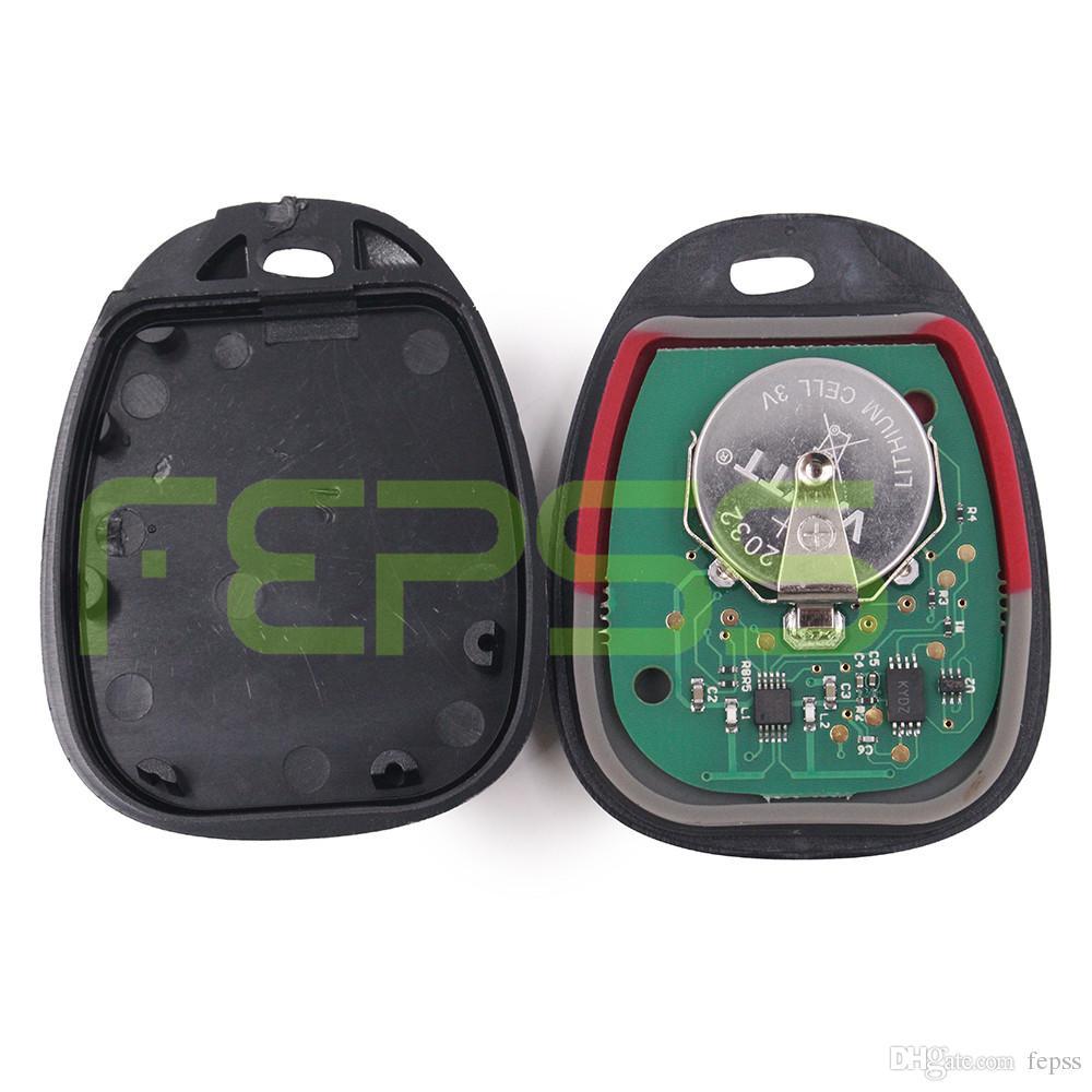 Télécommande d'accès sans clé à 3 boutons de remplacement 2003-2007 pour véhicules GM GM ID FCC: LHJ011