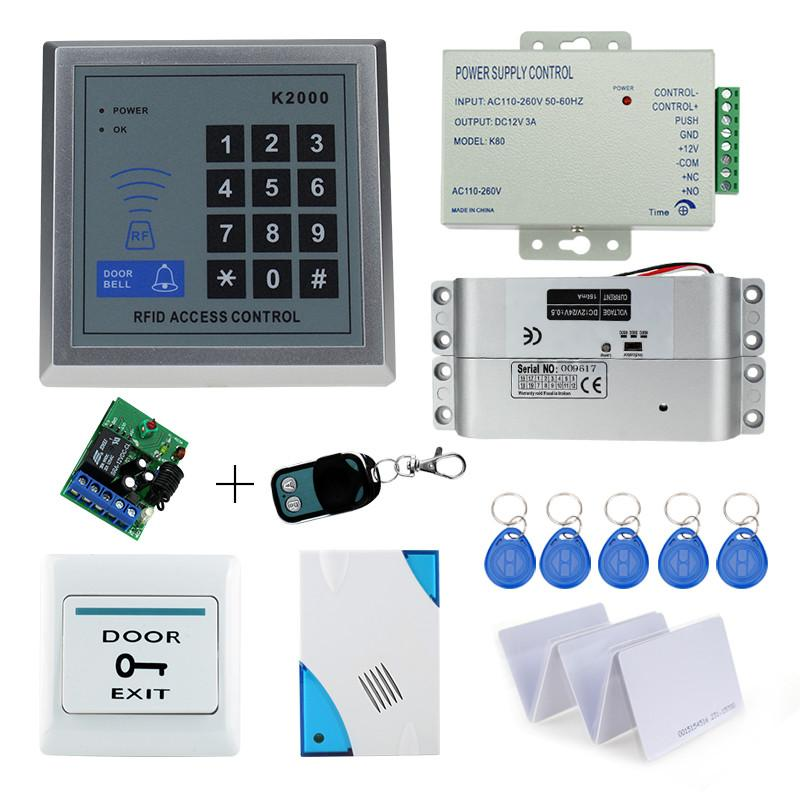 Original Free Shipping Full Set With Electric Bolt Lock+keypad+power Supply+exit Switch+keys Door Access Control System Kit Security & Protection
