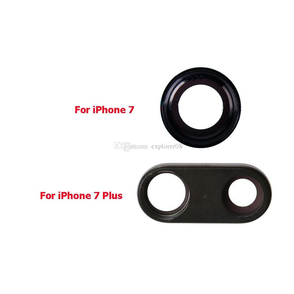 Original Camera Lens Glass With Frame for iPhone 7G 4.7'' 7 Plus 5.5'' Back Camera Ring Holder Replacement Parts