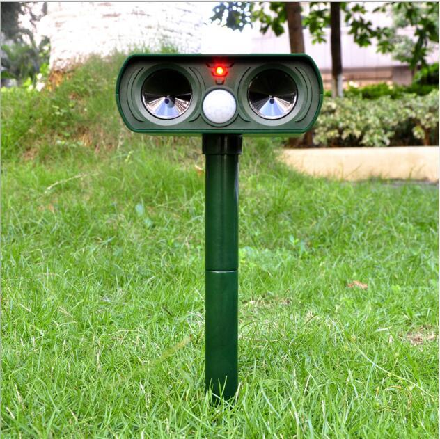 ABS Solar Power Ultrasonic Signals Repeller Outdoor Bird Mouse Expeller Green 2016 Hot Sale New Gardent Product