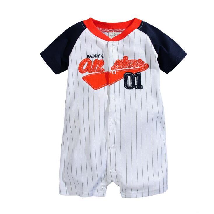 Kinderkleidung Baby Strampler Infant Cartoon Floral Jumpsuits Gestreifte Gedruckt Kinder Embroideried Boxers Bodys Kinder Baumwolle Kleidung H618