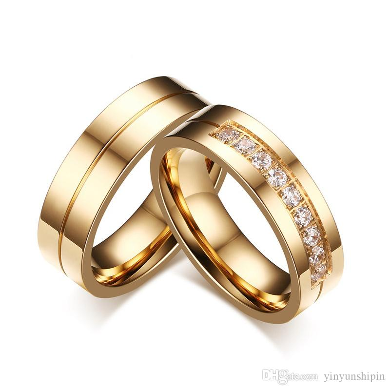 hers plating layer bands item his handmade lover promise pure gold rings titanium wedding and