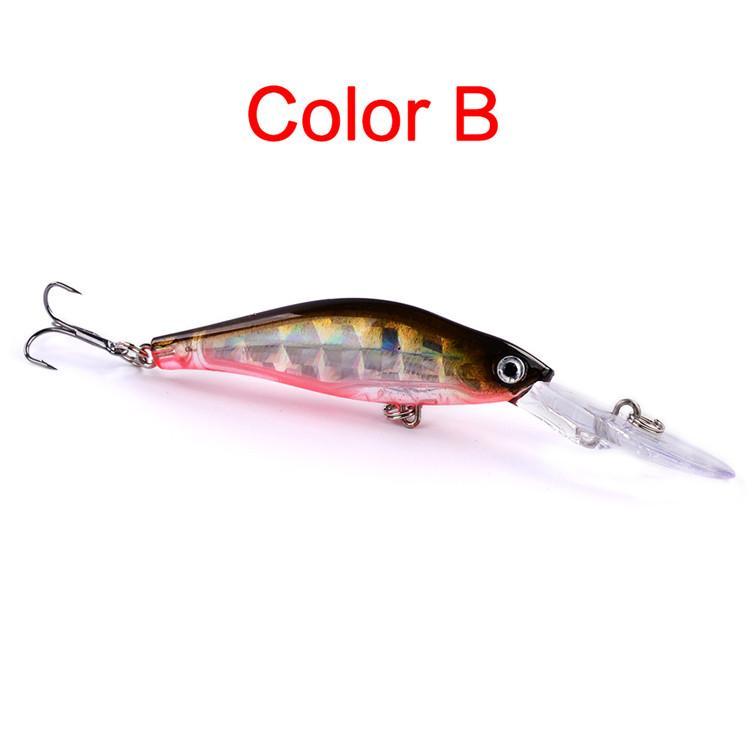 Long tongue bass Trout lure 8g 10cm ABS Plastic Bright laser Minnow Wobblers Bait Freshwater Fishing Tackle