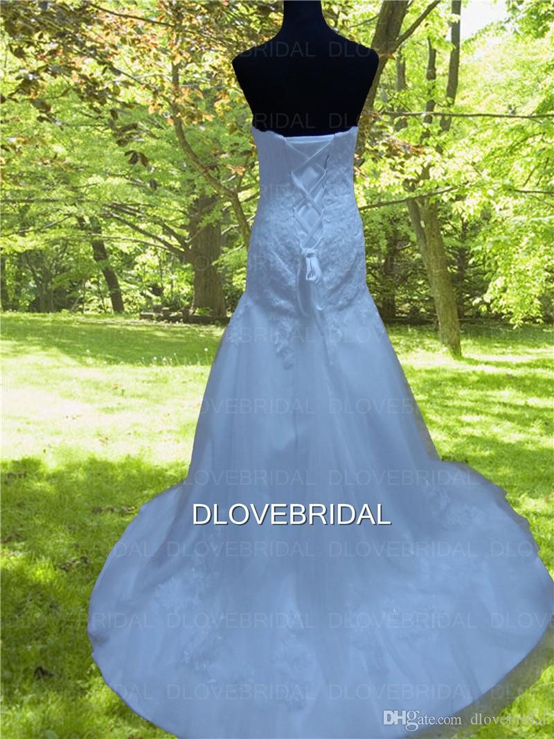 High Quality Mermaid Lace Wedding Dress with Long Sleeve Jacket Real Photo Strapless Sweetheart Vestios De Novia Bridal Gown Custom Made