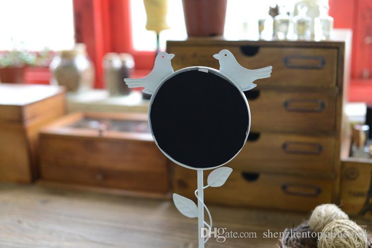 화이트 컬러 금속 복고풍 스타일 돋보기 서 분리형 장식 메이크업 거울