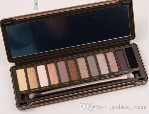 حار بيع جودة عالية منتجات جديدة ماكياج لوحة 12 لون ظلال العيون فرشاة 5 قطع