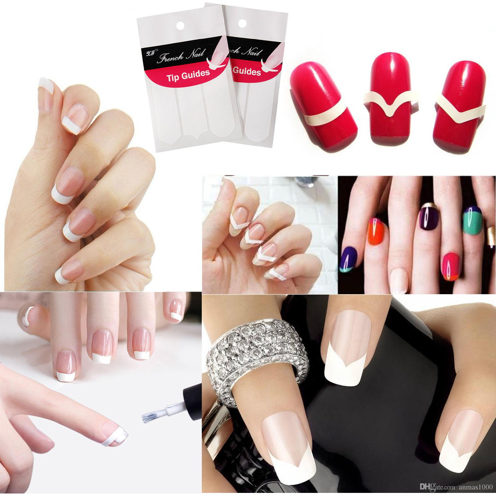 New Random 5 Packs 3 Style French Manicure Form Nail Art Tape Tips ...