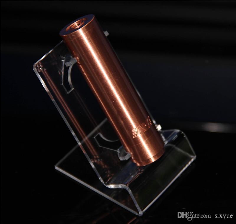 Akrilik e çiğ ekran standı vapor ecig buharlaştırıcı kalem için temizle raf tutucu raf elektronik sigara ego t ego q pil ve tankı