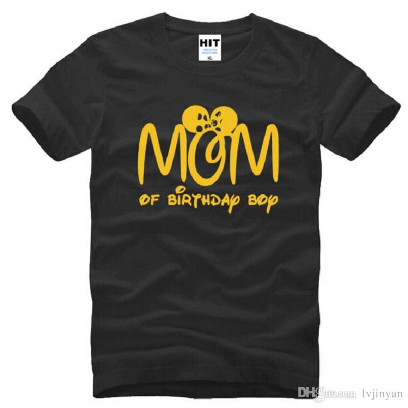 Grosshandel Neue Designer Mom Von Geburtstag Jungen T Shirts Manner