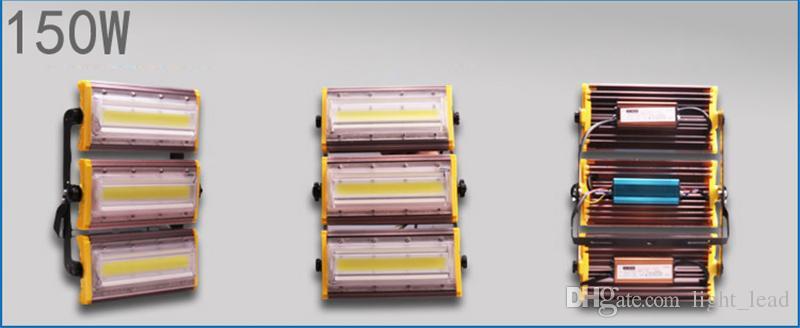 LED Flood Lights 50W 100W 150W AC85-265V COB Chip IP66 Impermeabile Flood Outdoor Lamp Yard Garden Lighting