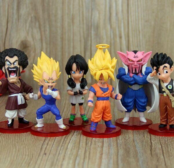 Anime Dragon Ball Z Son Goku Vegeta Hercule Dabura Son Gohan Videl PVC Figures Toys 6pcs/set Free Shipping