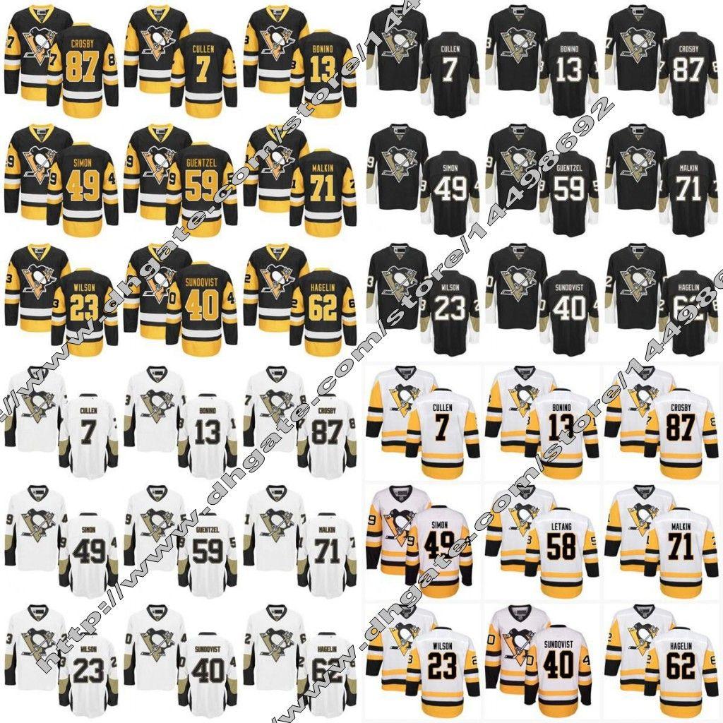 f882bf123 2019 2017 Stanley Cup Champions Pittsburgh Penguins Hockey Jersey 87 Sidney  Crosby Carl Hagelin Scott Wilson Evgeni Malkin Jerseys From Jersey Shop 23