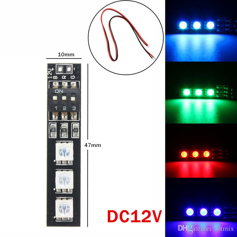 Best Price RGB DC5V/12V/16V 5050 SMD Strip Night Light LED Board With DIP Switch For FPV 250 With Power Cord