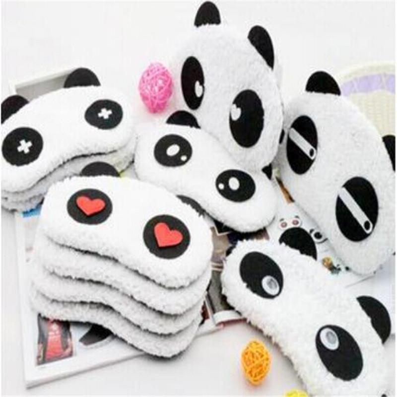 bbc0a40cc67 Lovely Panda Sleeping Eye Mask Nap Eye Shade Cartoon Blindfold Sleep Eyes  Cover Sleeping Travel Rest Patch Blinder Blackout Sleep Mask Cooling Sleep  Mask ...