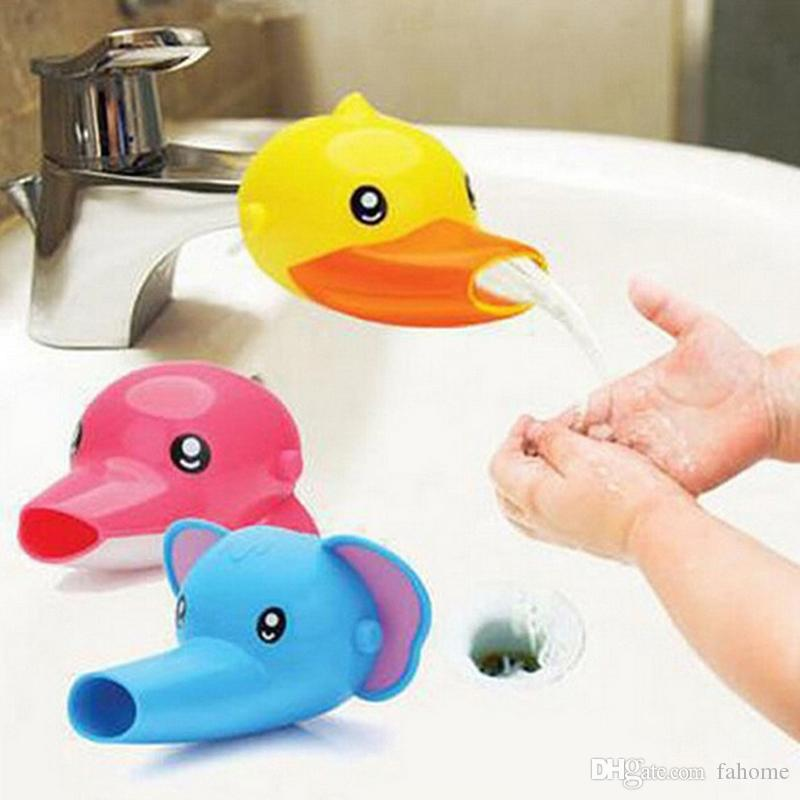 Cute Bathroom Sink Faucet Chute Extender For Children Kid Washing ...