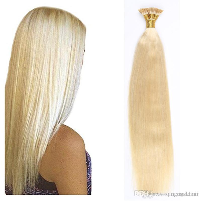 I Tip Pre Bonded Hair Extensions Straight Brazilian Human Hair Pre
