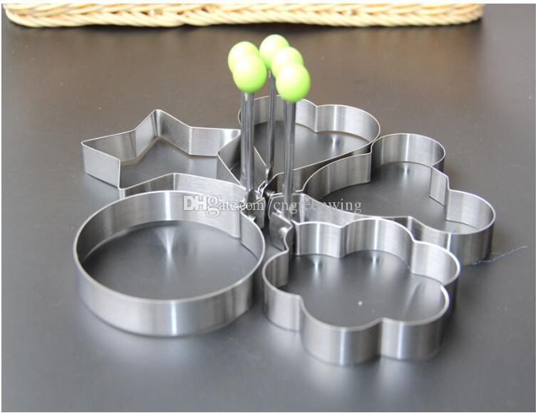 Stainless Steel Egg Shaper Egg Mold Cooking Tools Pancake Molds Ring Heart Flower Kitchen Gadget