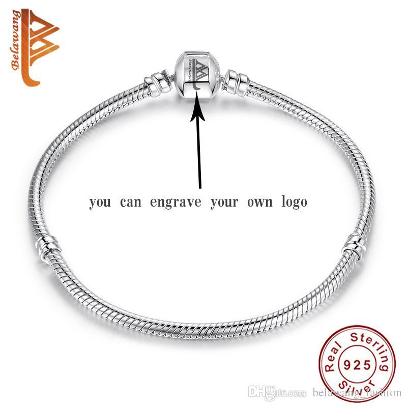 BELAWANG 925 серебряные ювелирные изделия ожерелья BraceletBangles кольца выгравировать собственные LogoName сделать уникальный подарок ювелирных изделий