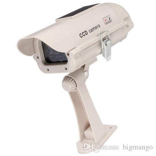 태양 광 발전 가짜 더미 시뮬레이션 카메라 CCTV 보안 감시 깜박이 LED