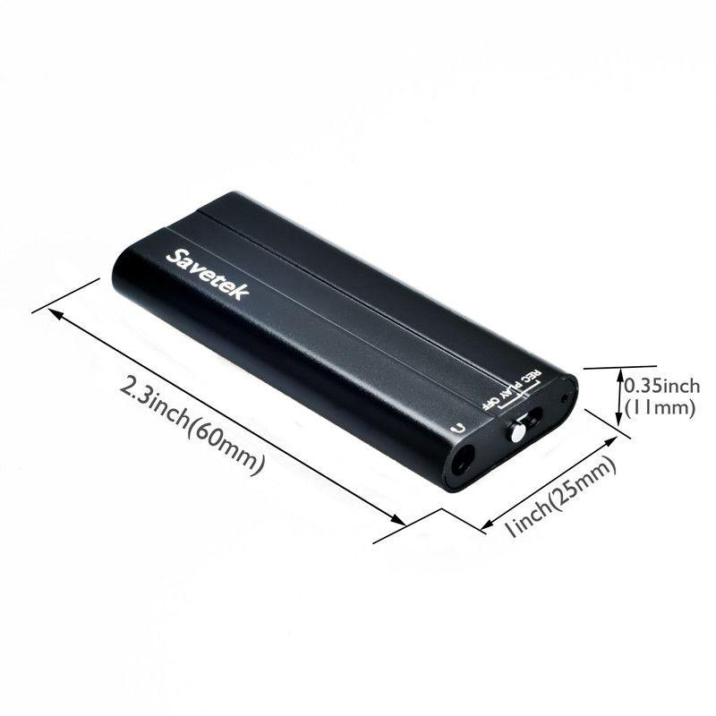 Voice Activated Mini Clip 8GB 16GB USB Pen Camera Digital Audio Voice Recorder MP3 Player 45 Hours Recording