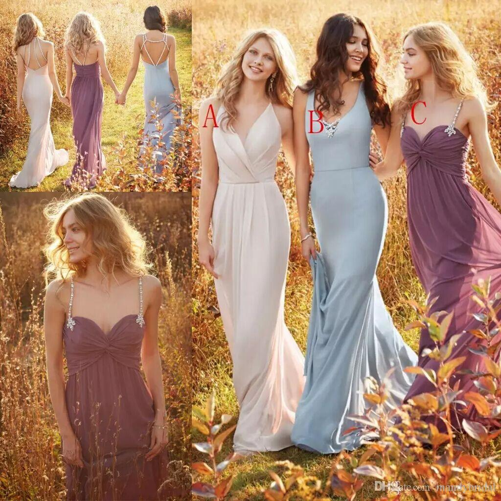Elegant jim hjelm bridesmaid dresses with crystal v neck elegant jim hjelm bridesmaid dresses with crystal v neck sweetheart backless beads long chiffon garden maid of the honor dresses cheap bridesmaid dresses ombrellifo Gallery