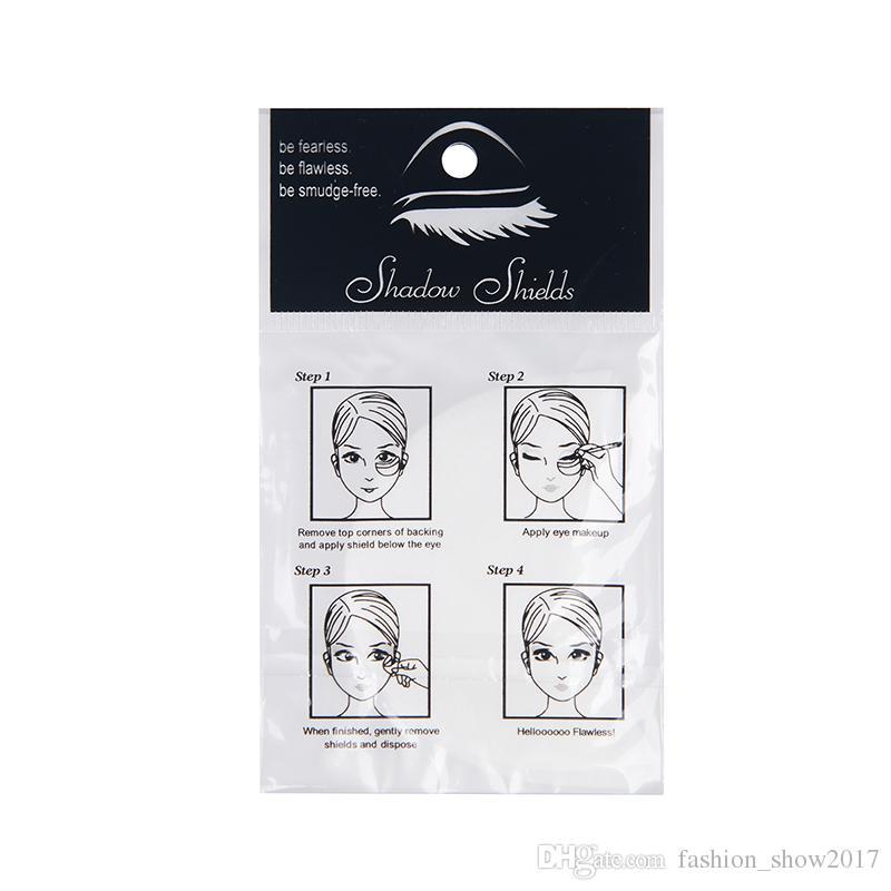 Nueva moda almohadillas de sombra de ojos desechables herramientas de maquillaje de belleza gel de ojos maquillaje protector almohadilla protectora pegatina extensiones de pestañas parche